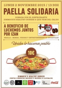 cartel paella Izan 2 de noviembre